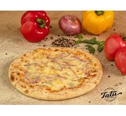 Pizza quattro formaggi cu sunca si bacon